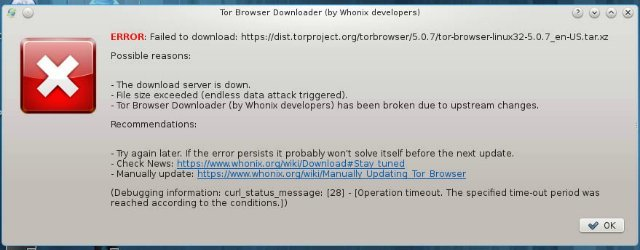 error:failed to download :https://dist torproject org/torbrowser