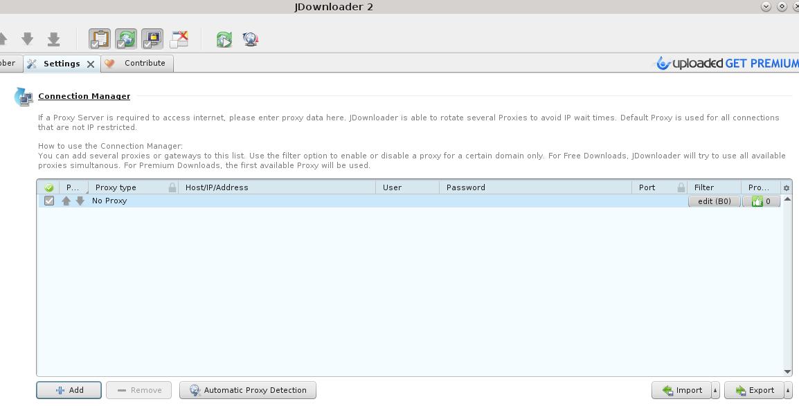 settings for stream isolation for JDownloader ? - Support